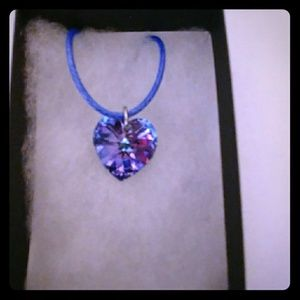Jewelry - Antarctica Pink Crystal Heart Necklace